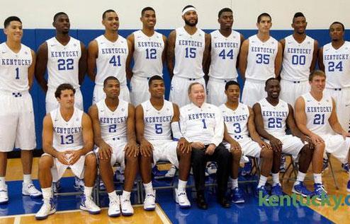 Kentucky Basketball 2014 Team team photo